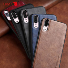 X-Level Luxury Leather case For Huawei P20 Pro P20 Soft Edge Protective Back Cover Shell for Huawei P30 P30 Pro Case Business