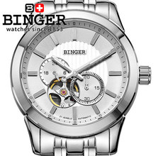 Brand Binger Analog Digital Stainless Full Steel Watches Alarm Men s Sports Outdoor Wristwatches Auto Wrist