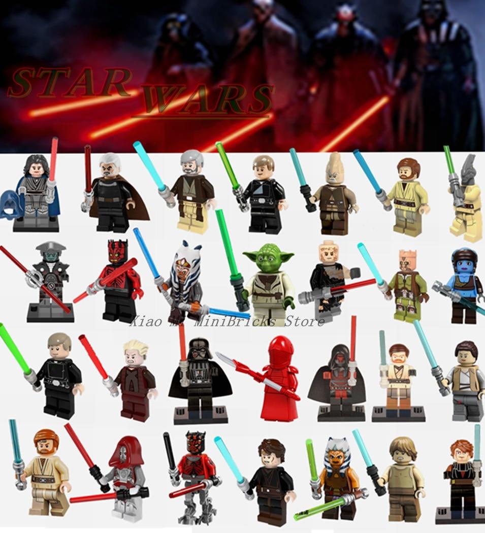 New Star Wars Minifigures Han Solo Obi Wan Darth Vader Luke Yoda Sith Clone R2D2