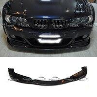 For H Style E46 Spoiler Car Styling Carbon Fiber Rear Lip Diffuser Bumper for BMW E46 M3
