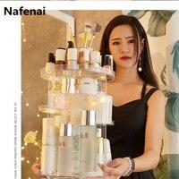 New 360 degree Rotating Makeup Organizer Box Brush Holder Jewelry Organizer Case Makeup Brush Cosmetic Storage Box