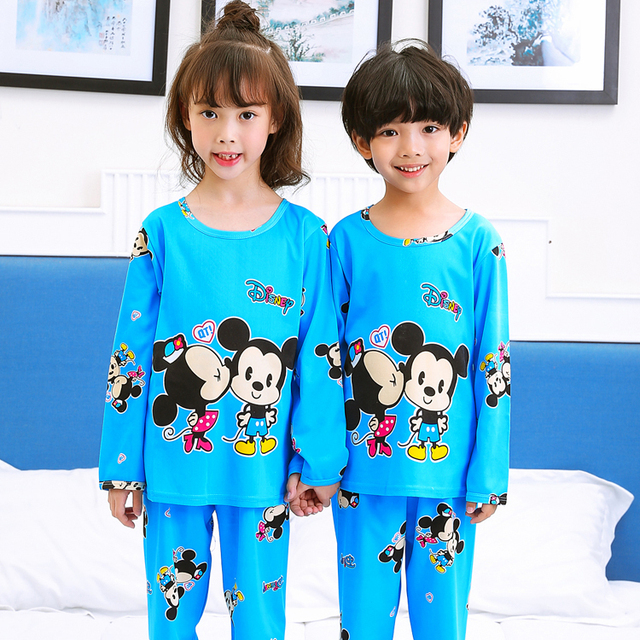 Explosive Sales Kids Long Sleeved Pajamas Sets Girls Pajama Boys Sleepwear  Tops Children Home Clothing Cartoon 6c26a8cd2
