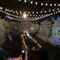 10 M 38 5 CM Tamanho Grande Bolas LED String Fada Luzes De Natal Ao Ar Livre Guirlande Lumineuse Led Partido Decoração Do Casamento luzes