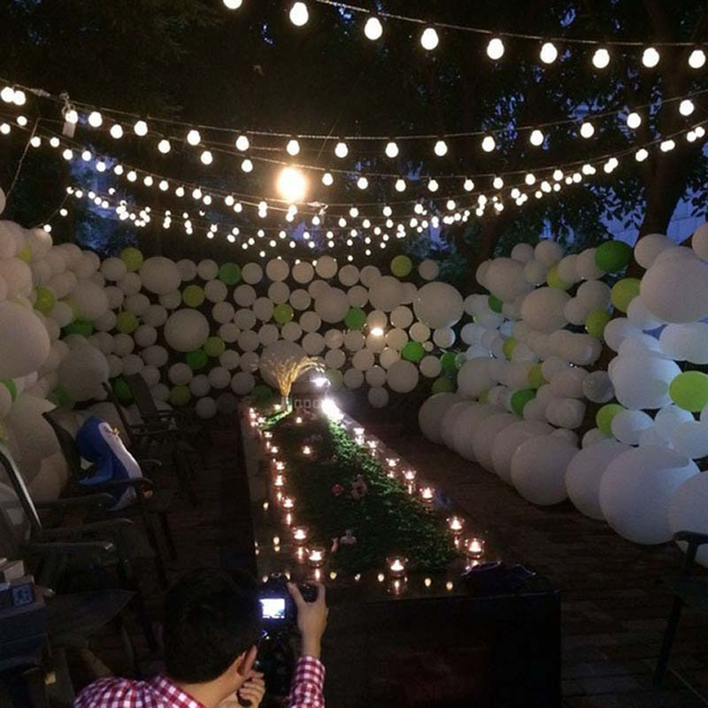 10m 38 5cm big size balls led string fairy christmas lights outdoor guirlande lumineuse led party wedding decoration lights in led string from lights