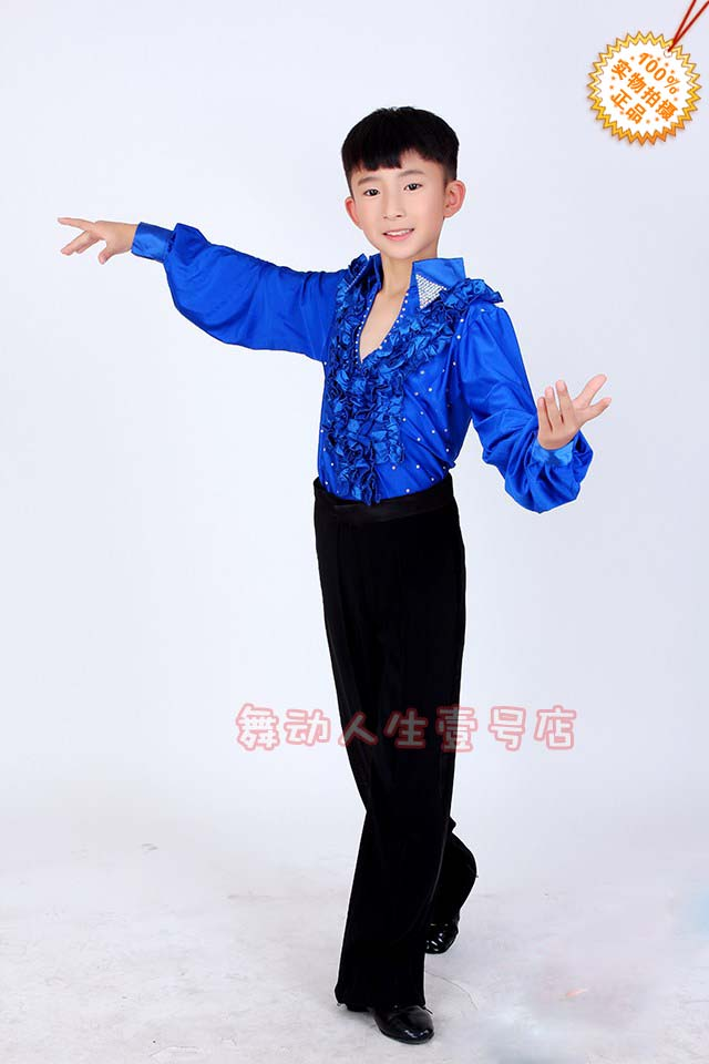 5d7448d4abd4 High quality Fall and winter children s ballroom stage clothing boys ...