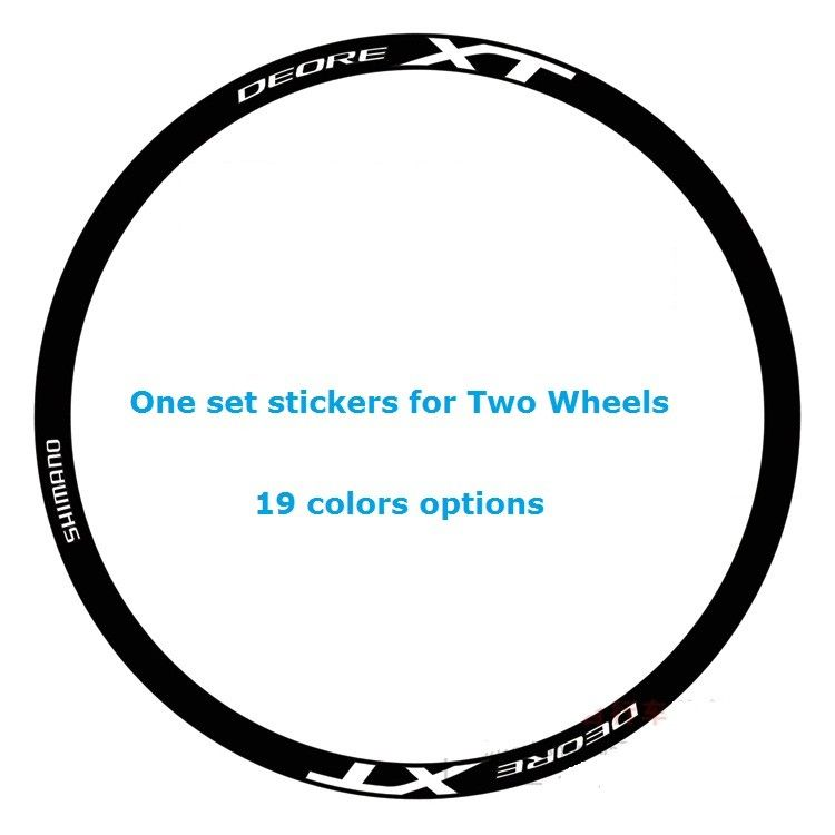 Wheel Rim Stickers Set For SHIMANO XT DEORE Mountain Bike Bicycle Cycle Decals