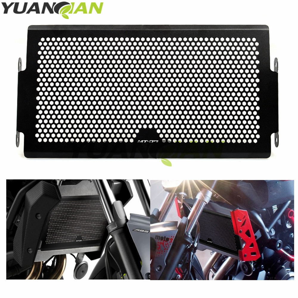 FOR MT07 LOGO Motorcycle Radiator Protective Cover Grill Guard Grille Protector Silver For Yamaha MT 07 MT07 MT-07 2014-2015 arashi motorcycle parts radiator grille protective cover grill guard protector for 2004 2005 2006 yamaha yzf r1