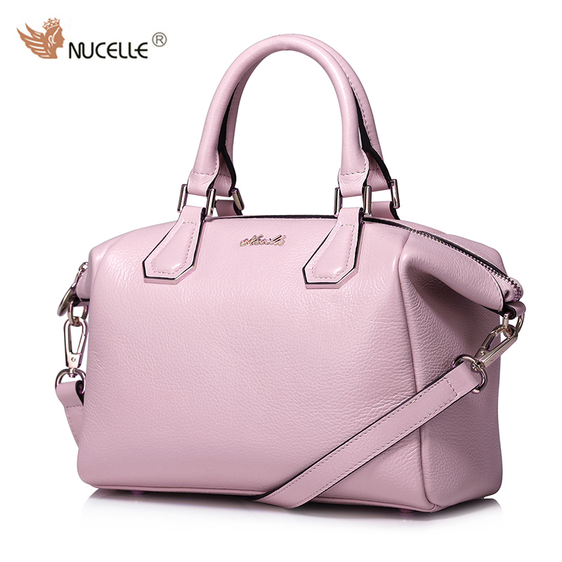 NUCELLE New Brand Design Fashion Genuine Cow  Leather Women Ladies Handbag Shoulder Crossbody Hobos Bag