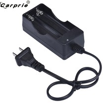 CARPIRE AC 110V 220V double chargeur pour 18650 3.7V Rechargeable Li-Ion chargeur de batterie US EU Plug 90508(China)
