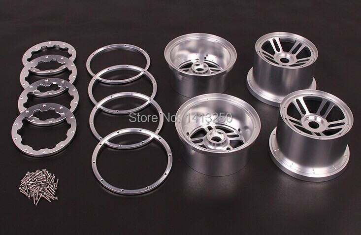 5B CNC Metal Wheel Set  TS-H85129 for baja parts ,sliver and orange choose with free shipping. new arrivals baja new suspension arm set ts h85220 for baja parts with free shipping
