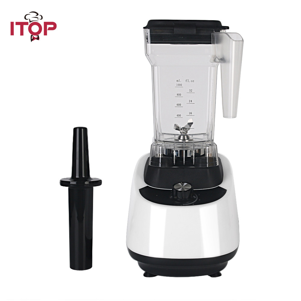 ITOP Commercial Blender Juicers Ice Crushers High Speed Ice Smoothies Maker Blender Heavy Duty Machine Food Mixers 110V/220V цена и фото