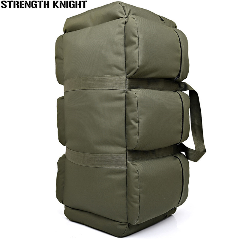 90L Large Capacity Men's Military Tactics Backpack Multifunction Waterproof Nylon Hike Backpacks Wear-resisting Travel Bag men s new military tactics backpack multifunction waterproof oxford 1680d hike camp backpacks wear resisting bag