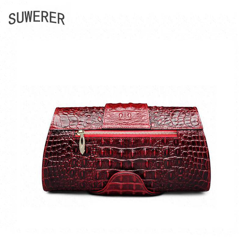 Marke Red Frauen Designer 2018 Luxus brown Suwerer Handtaschen Damen Taschen Echtem Krokodil Für Handtasche Neue Muster Leder PqwAfxg
