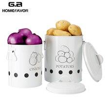 2 pièces cuisine boîte de rangement conteneurs pommes de terre oignons organisation seaux métal respirant bouteilles de légumes pots articles de cuisine