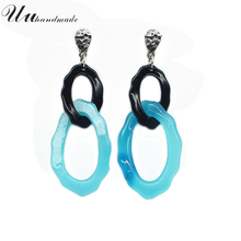 Brand Real Trendy Long Earrings Jewelry Drop For Women Love Earings Fashion Brincos Pendientes Mujer Moda
