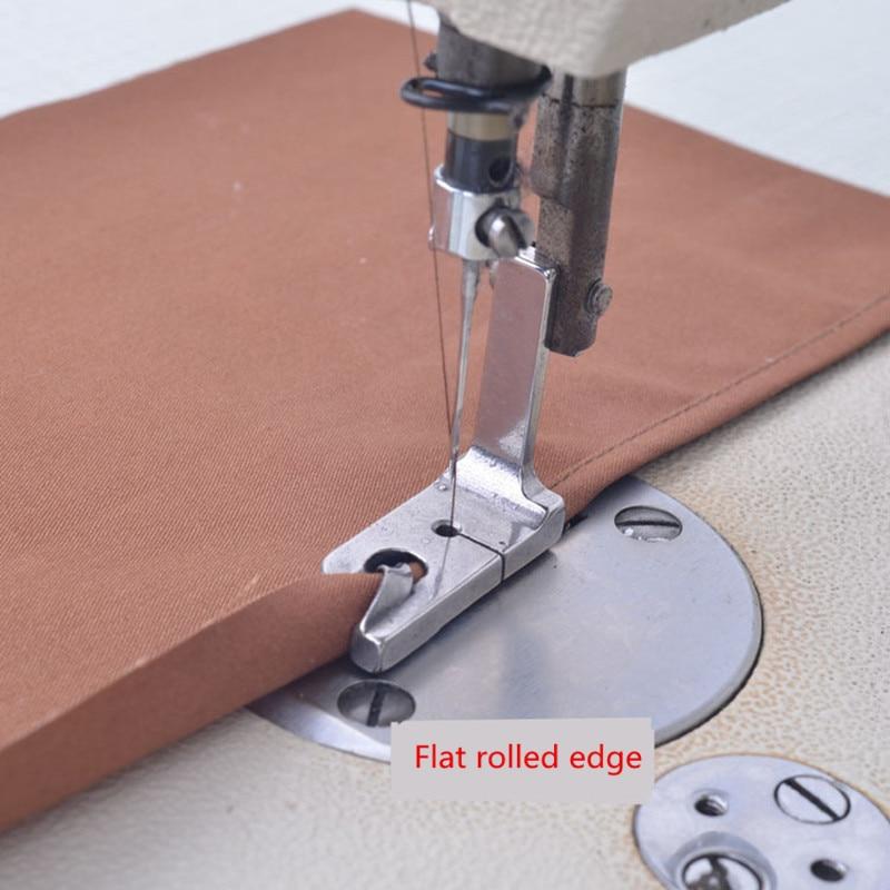 XUNZHE 1Pcs INDUSTRIAL Electric Sewing Machine Presser Feet 1/41/81/165/645/167/32Rolled Hem Foot Sew Accessories
