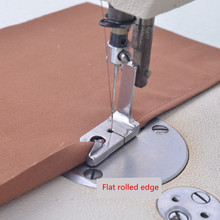 XUNZHE 1Pcs INDUSTRIAL Electric Sewing Machine Presser Feet 1/41/81/165/645/167/32Rolled Hem Foot Sew Accessories rolled hem drawstring plaid pants