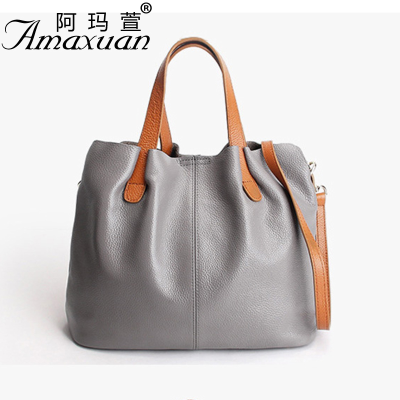 2017 Women Genuine leather handbags fashion Vintage women messenger shoulder bag