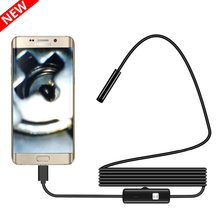 1/1. 5/2M 7/5. 5mm Lens Endoscoop HD 480P USB OTG Snake Endoscoop Waterdichte Inspectie Pijp Camera Borescope Voor Android Telefoon PC(China)