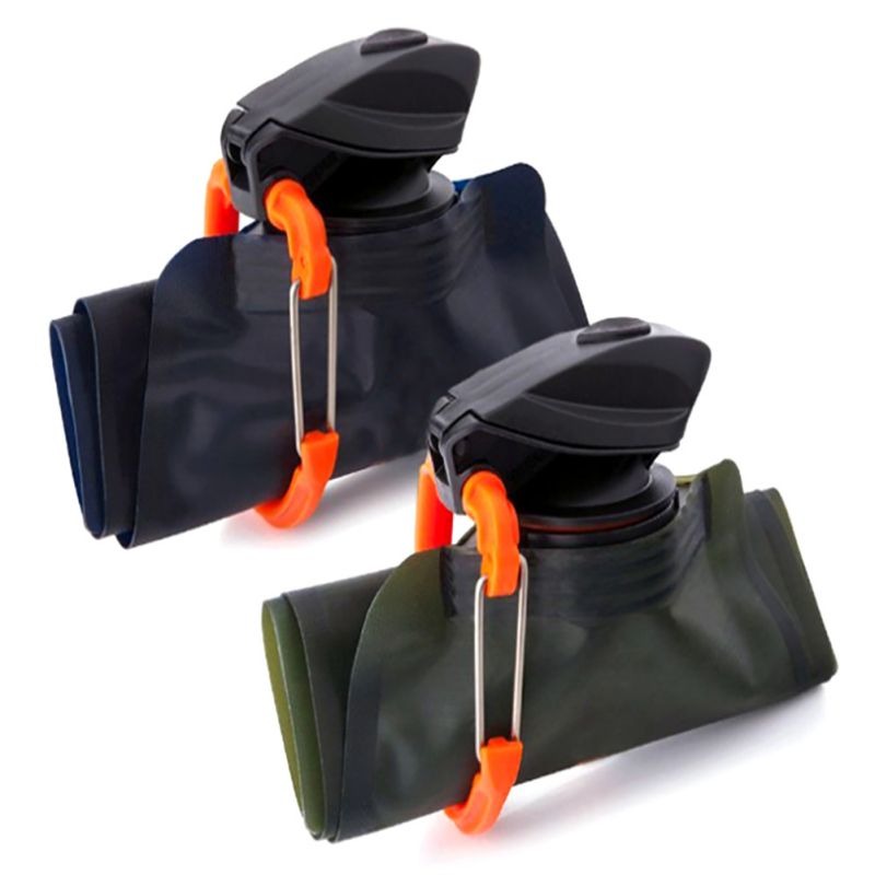 Camping Hiking Portable Collapsible Folded Drink Water Bag Travel Sports Kettle Cup