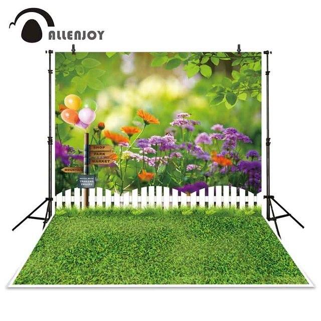 Allenjoy photographie toile de fond printemps jardin signe clôture ...