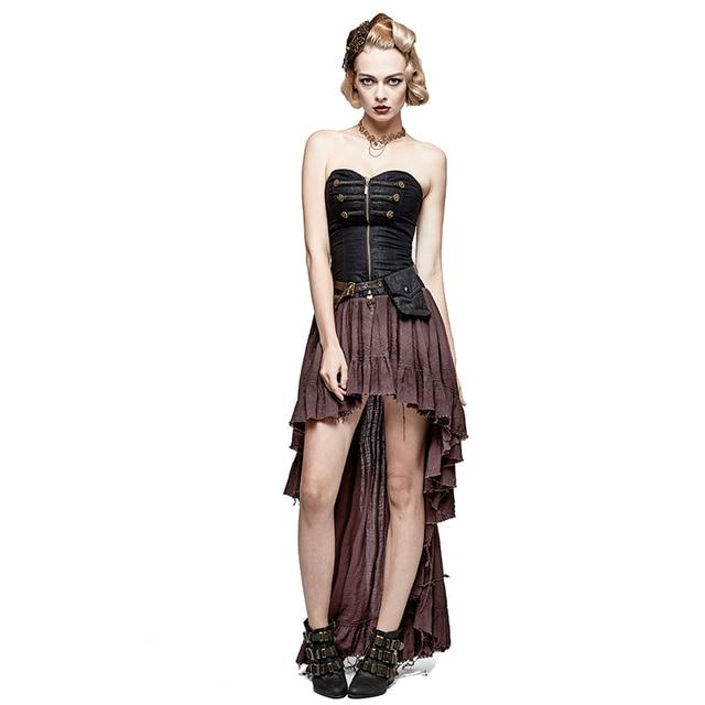 Design Steampunk Taille 92017 Boden Asymmetrische Trägerlosen Sexy Frauen Us101 Damen Sommer Dress Hohe Korsett In Kleider Vintage Gothic zMpqVSU