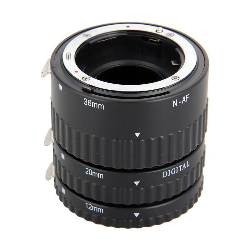 Meike Auto Focus Macro extensión Tube Set anillo N-AF1-B para Nikon DSLR AF AF-S DX cámara incluye 3 tubos de extensión -12 20 36mm