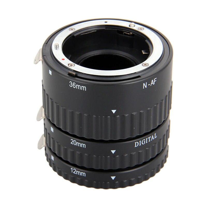 Meike Auto enfoque Macro extensión tubo de 12 20 36mm anillo adaptador para Nikon D3100 D3200 D5000 todos DSLR AF AF-S DX lente de la cámara