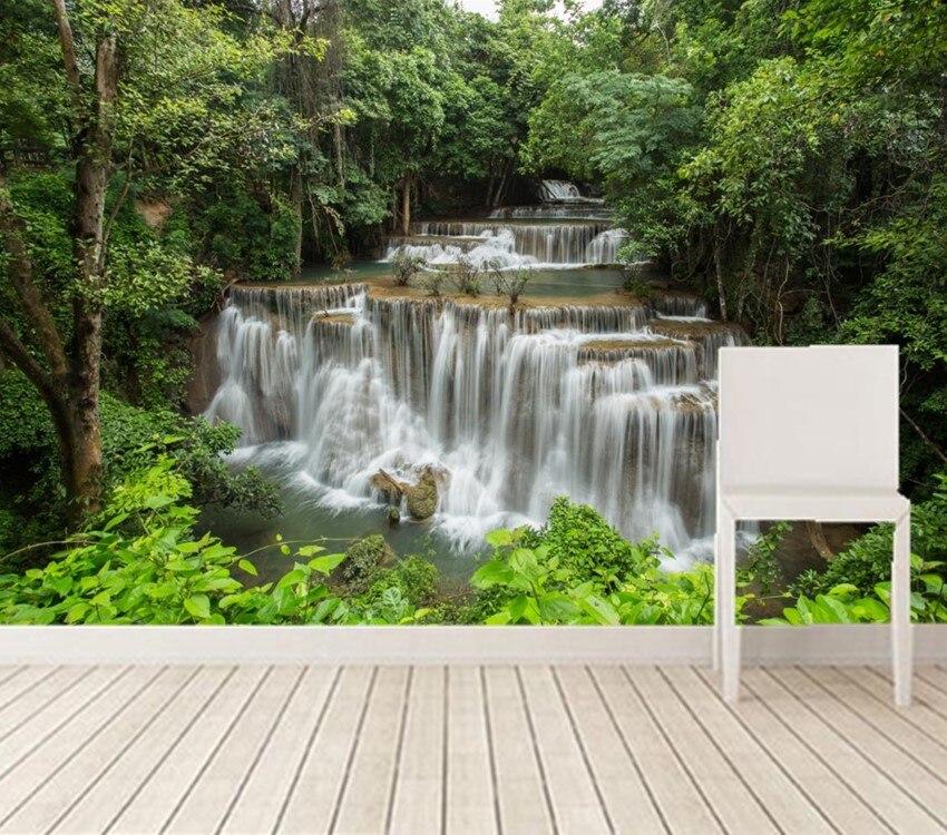 Custom 3d murals,Waterfalls Forests River Nature wallpapers,living room sofa tv wall children bedroom papel DE parede