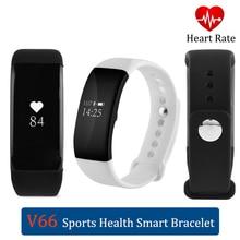 Водонепроницаемый IP68 сердце rate монитор Смарт Браслет V66 OLED Дисплей браслет Sport деятельность фитнес-трекер для IOS Android