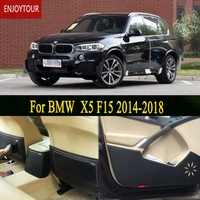 Car Pads Front Rear Door Seat Anti Kick Mat Car Styling Accessories For BMW X5 F15