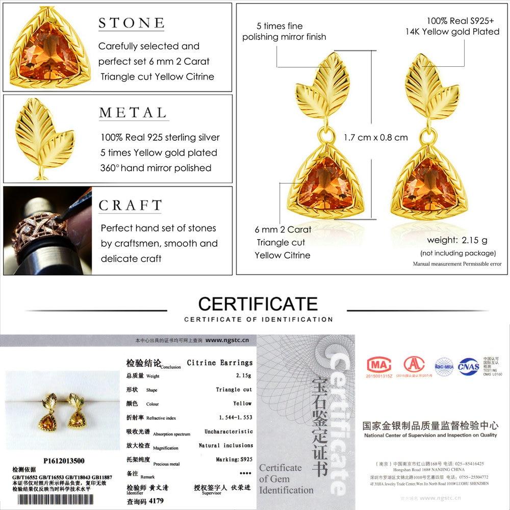 LAMOON Elegante Ohrringe Für Frauen 2ct 100% Natürlichen Edelstein - Edlen Schmuck - Foto 6