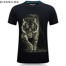 Givanildo Casual 3D Stereo Animal Printed Fierce Tiger Men T-Shirt Plus Szie 6XL Student Cartoon Short Sleeve Tee Shirt BY101