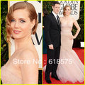 2013 70th Golden Globes Awards Amy Adams Mermaid Strapless Dresses Sweep Train Celebrity Gown