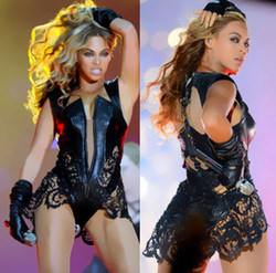 Beyonce dance costume one piece female singer sexy dance clothes lace patchwork leather fork cover performance.jpg 250x250