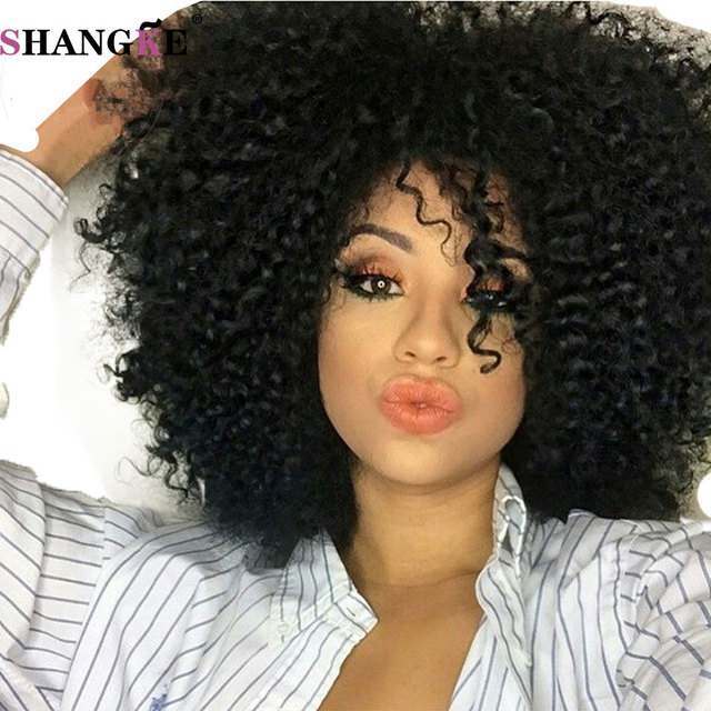 Short Afro Kinky Wig Curly Cheap Black Synthetic Wigs For Black Women  Natural Sexy Wigs Women 53726b9db7