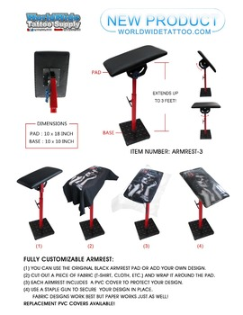 Heavy Duty Fully Adjustable Tattoo Armrest -3