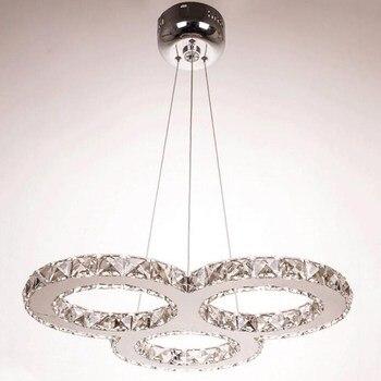 Люстра Хрустальный блеск led 110V220V скандинавские современные люстры освещение Подвесная лампа освещение для гостиной