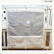 Cartoon Rooms Nursery Hanging Storage Bag Baby Cot Bed Crib Organizer Toy Diaper Pocket for Newborn Crib Bedding Set 58*48cm