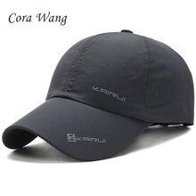 Cora Wang 2018 nuevo verano malla gorra de béisbol hombres sombreros de  deporte al aire libre viaje Snapback hueso gorras 76a9e33f085