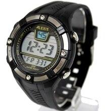 ساعات رياضية رقمية أنيقة للرجال مقاومة للماء 3ATM ALEXIS ماركة الرجال تاريخ التنبيه الخلفية ساعة رقمية DW381B