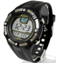 Moda esporte masculino relógios digitais resistente à água 3atm alexis marca homem data alarme backlight relógio digital dw381b