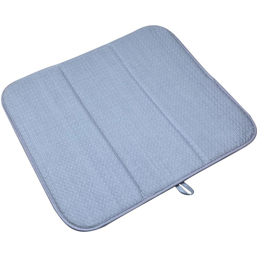 Sinland Lavável Microfibra Dish Secagem Mat para Cozinha Extra Grande Balcão Tapete Almofada Absorvente de Secagem Escorredor de pratos 16InX18In