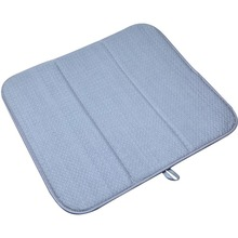 Sinland Microfiber Dish Drying Mat Washable for Kitchen Extra Large Counter Absorbent Drying Pad Dish Drainer Mat 16InX18In
