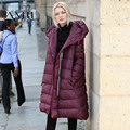 LYNETTE'S CHINOISERIE 2016 inverno com um capuz espessamento médio-longo plus size para baixo casaco feminino 11641934