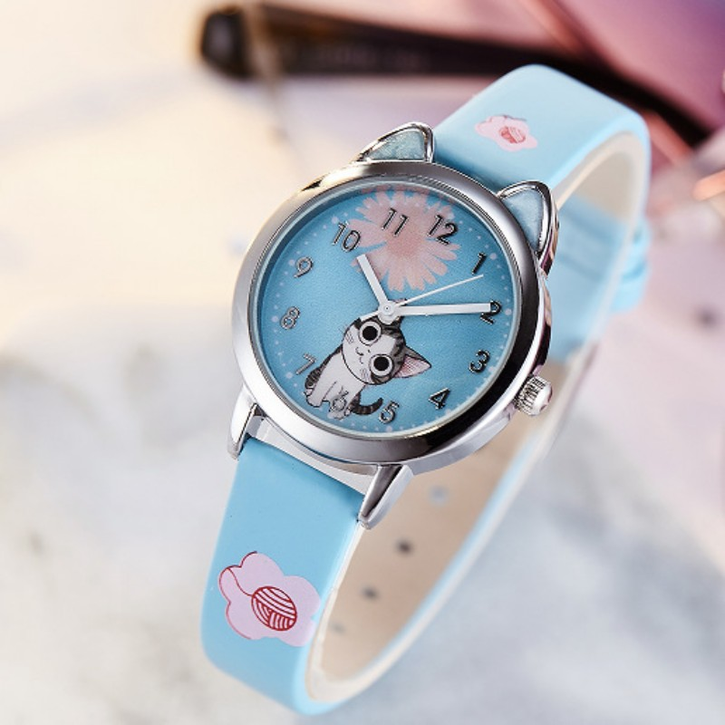 New Arrival Cute Cat Design Children Fashion Watches Quartz Wristwatches Jelly Kids Boys Girls Students Watch Relogio Kol Saati