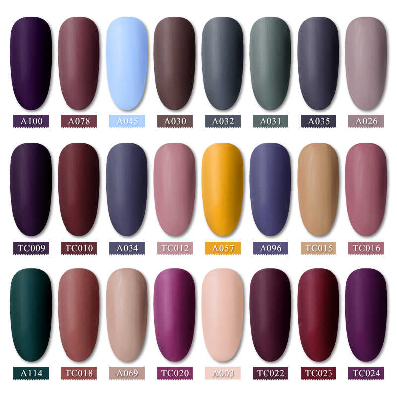T-TIAO CLUB Matte Top Naakt Kleur Nagel Gel Polish Hybrid Vernis Vernis Semi Permanant UV Top Base Gel Losweken nail Art Tips