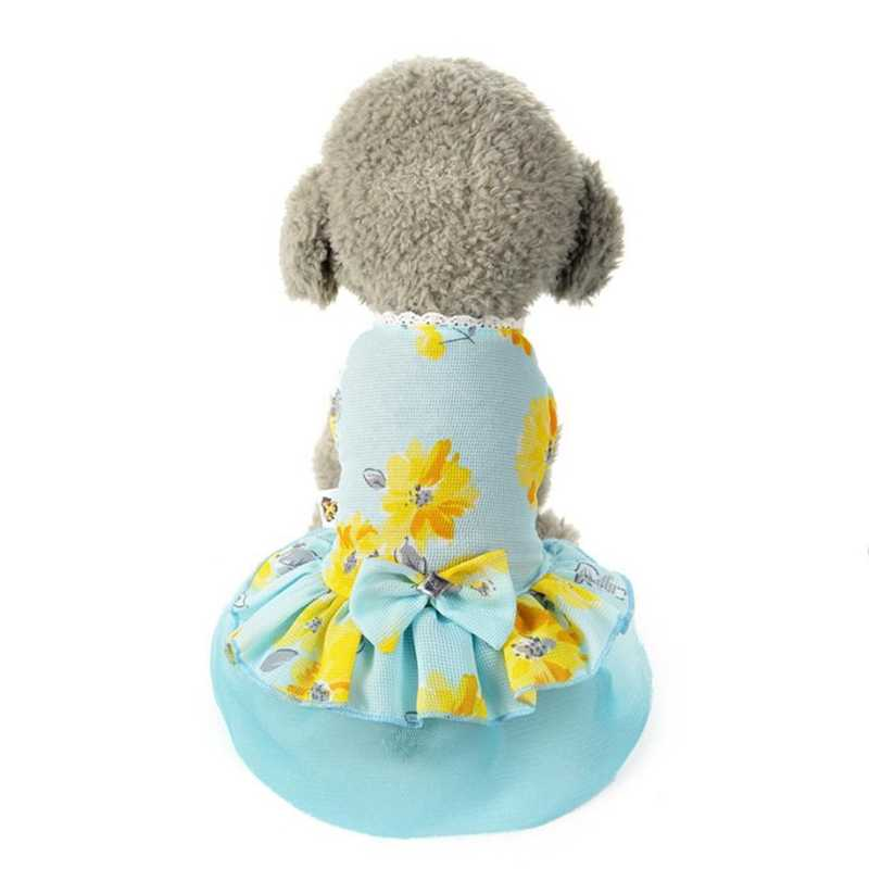 Pets Clothing Dog Cat Bow Tutu Dress Lace Skirt Pet Puppy Dog Princess Costume Floral Pattern Clothes Ropa Perro #7323