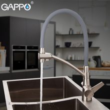 GAPPO Kitchen Faucet kitchen sink faucet tap single faucet kitchen water tap brass water mixer tap stainless steel faucet a1003 single port low grade faucet pure copper water nozzle laboratory water tap faucet