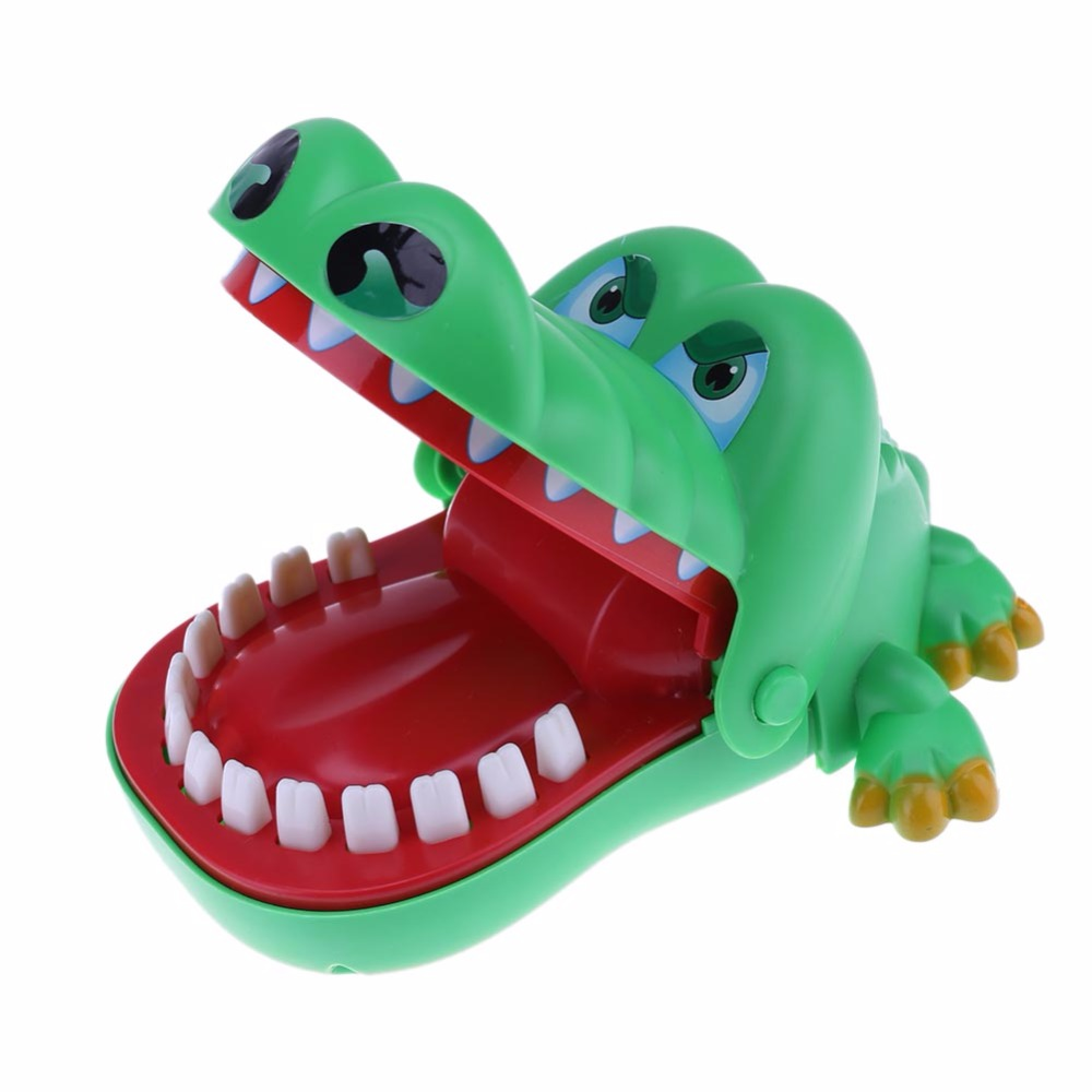 Creative Large Crocodile Mouth Dentist Bite Finger Game Funny Toy Novetly Gags Joking Toys For Kids Gift Kids Child Prank
